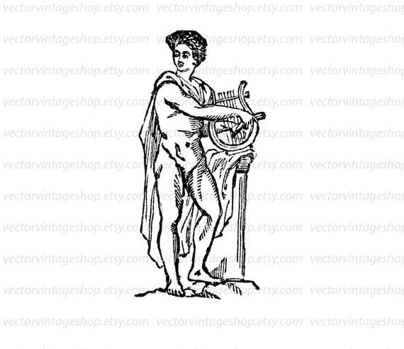 Apollo Clipart Myth Vector Clip Art Graphic Instant