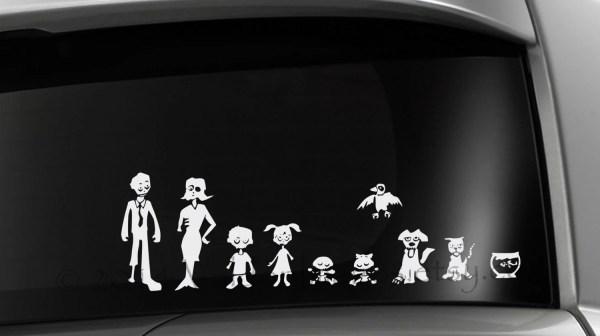Zombie Car Decal Laptop Vinyl