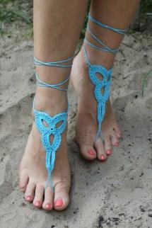Crochet Barefoot Sandals Beach Bridal Party