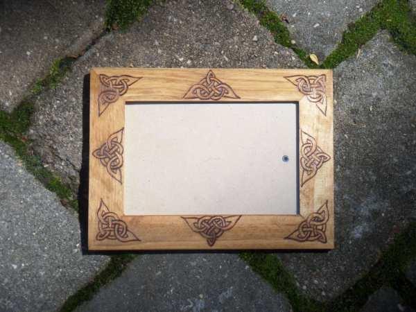Celtic Knot Woodburned 4x6 Frame