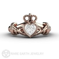 Diamond Claddagh Ring Irish Engagement Ring Promise by ...
