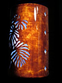 Wall sconce Tropical leaf Palm Tree Outdoor Ceramic Wall