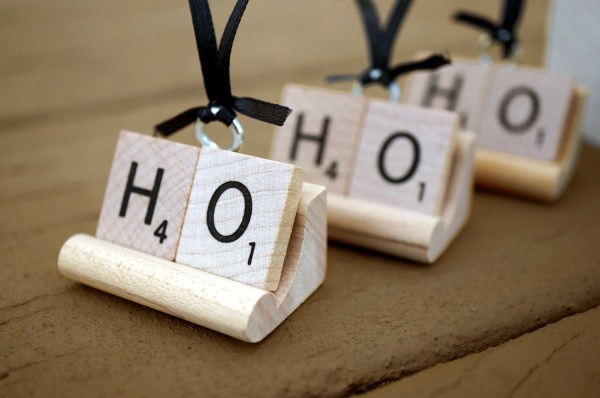 Scrabble Ornament Personalized Christmas Word