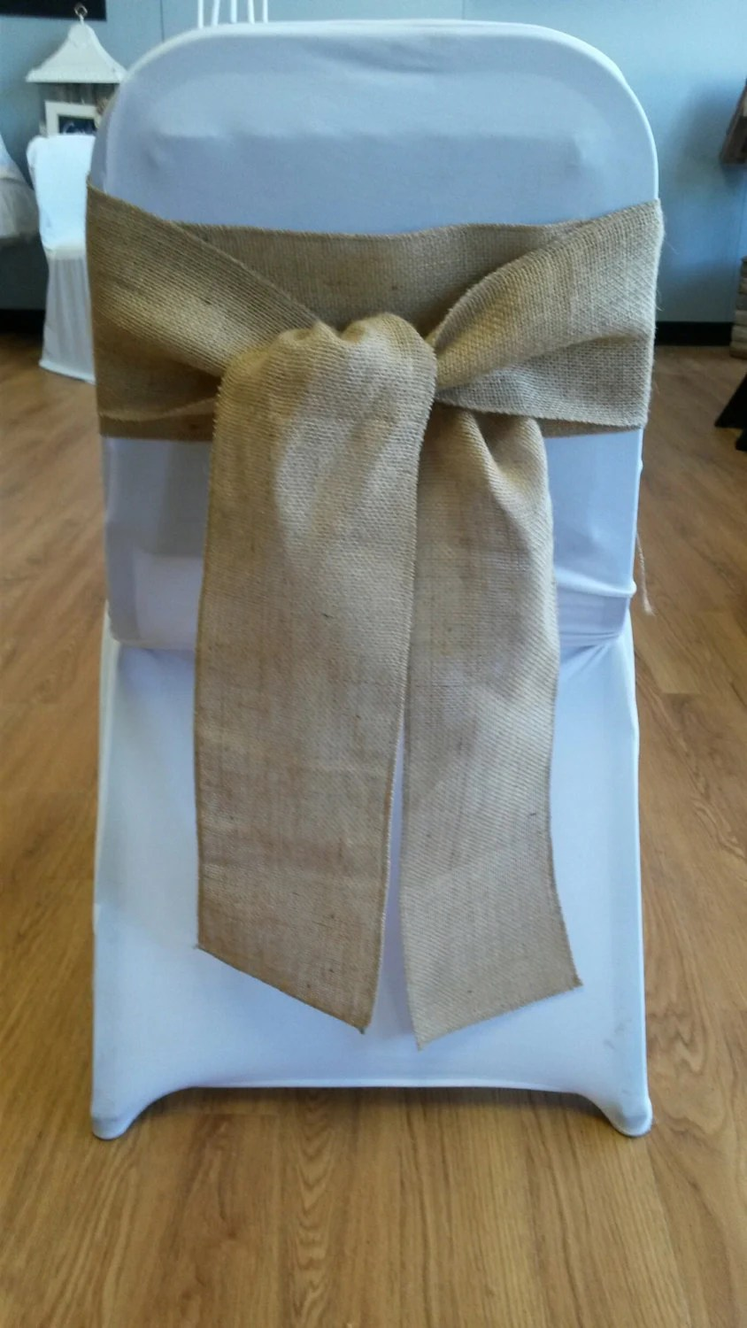 Burlap Chair Sashes Great for a Wedding or other Special