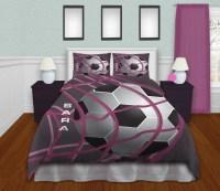 Bedding Soccer Soccer Bedding For Girls Teen Bedding Purple