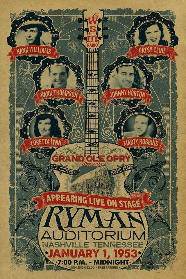 Ryman Auditorium poster Grand Ole Opry 1953 Loretta Lynn