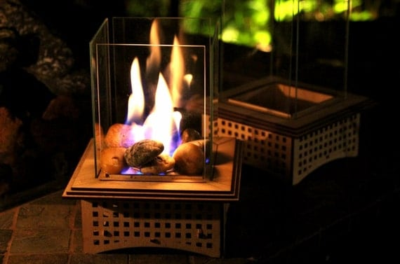 Outdoor Gas Fireplace Table Tabletop Glass Fireplace This Indoor/outdoor Lantern Can Add