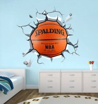 Wrecking Basket Ball Decal Basketball Wall Sticker