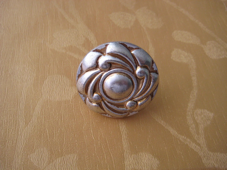 Antique Silver Flower Dresser Knobs Drawer Pulls Knobs Handles