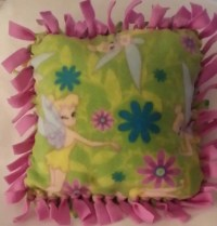 Items similar to Tinkerbell Fleece Pillow Tie-Knot on Etsy