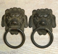 Antique Hardware Foo Dog Drawer Cabinet Pull Ring Large
