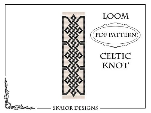 Loom Bead Pattern Celtic Knot Bracelet Cross Seed Beads Tribal