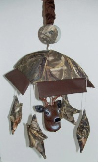 Camo Crib Mobile w/deer head