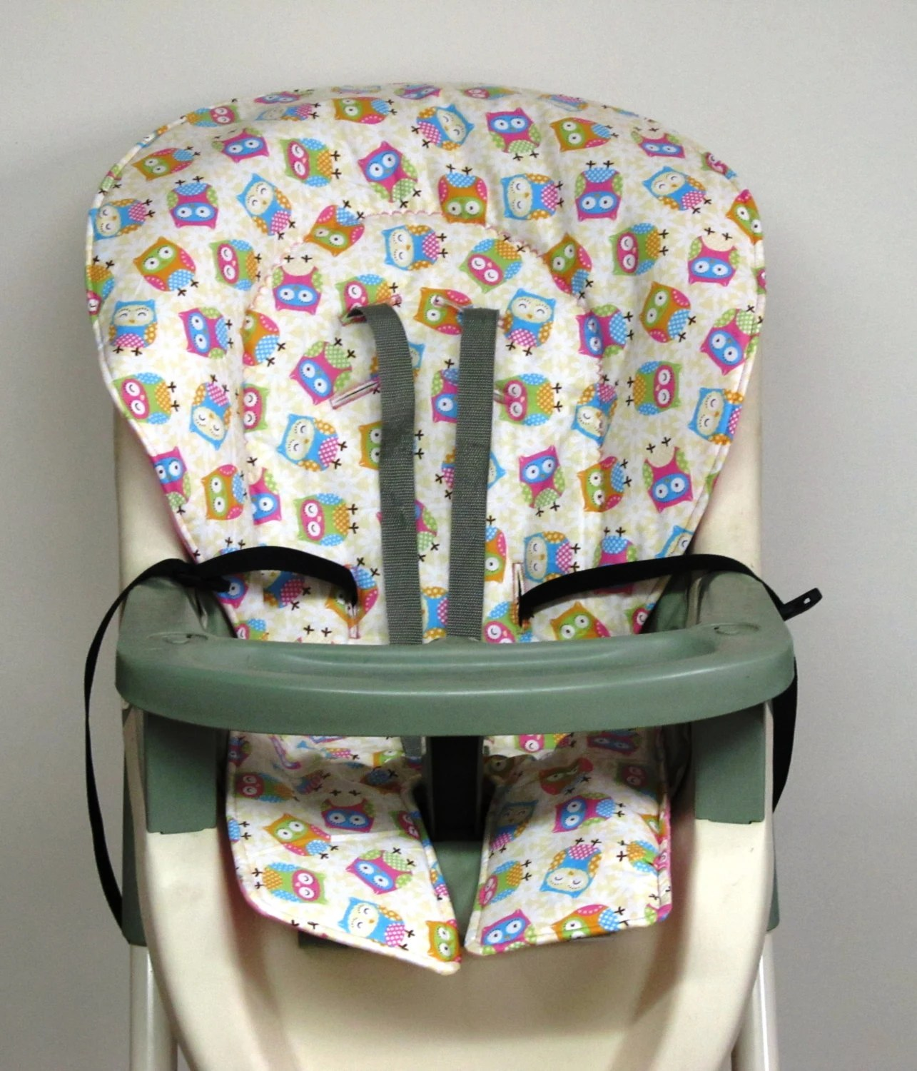 high chair pad graco p kolino little reader cover replacement girly owls by
