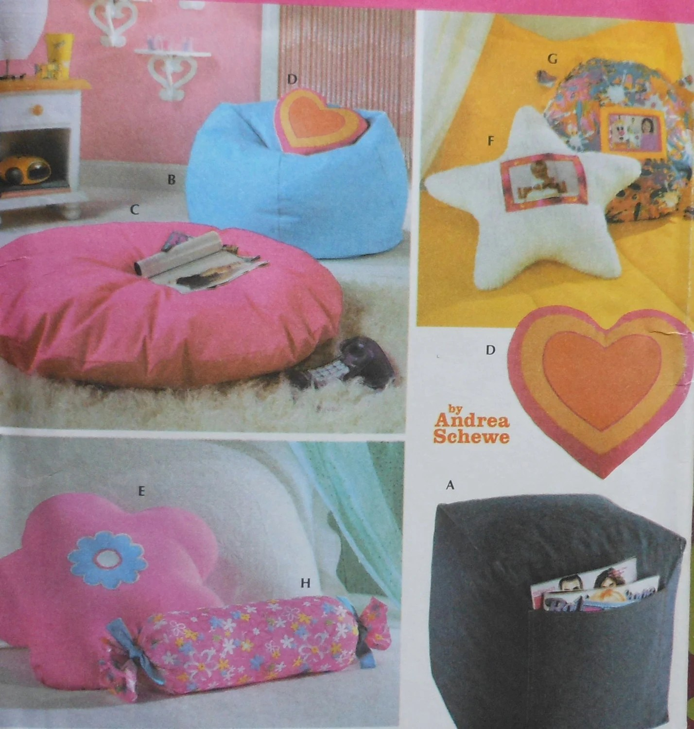 how to sew bean bag chair dream massage teen room accessories sewing pattern uncut simplicity 5105