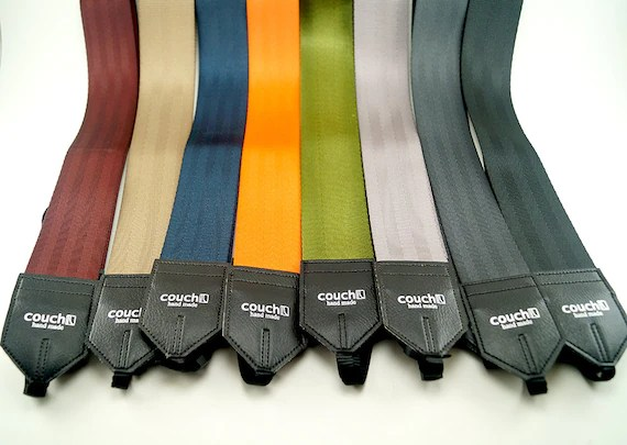 Seatbelt Camera Strap Upcycled Recycled Many Colors To