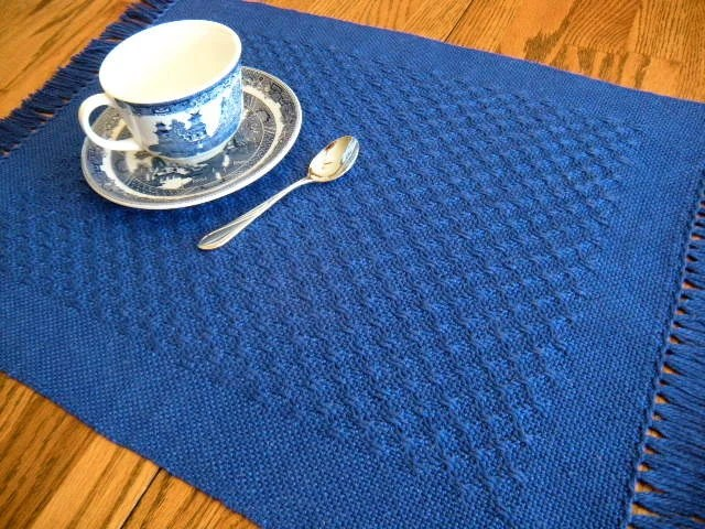 Placemats Cobalt Blue Handwoven Lace Table Mat Four