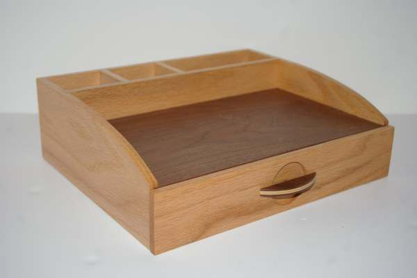 Desk And Vanity Organizer With Hidden Compartment