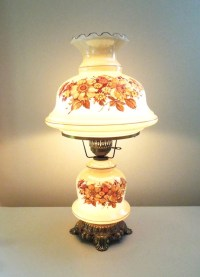 SALE Vintage large hurricane lamp and night light with