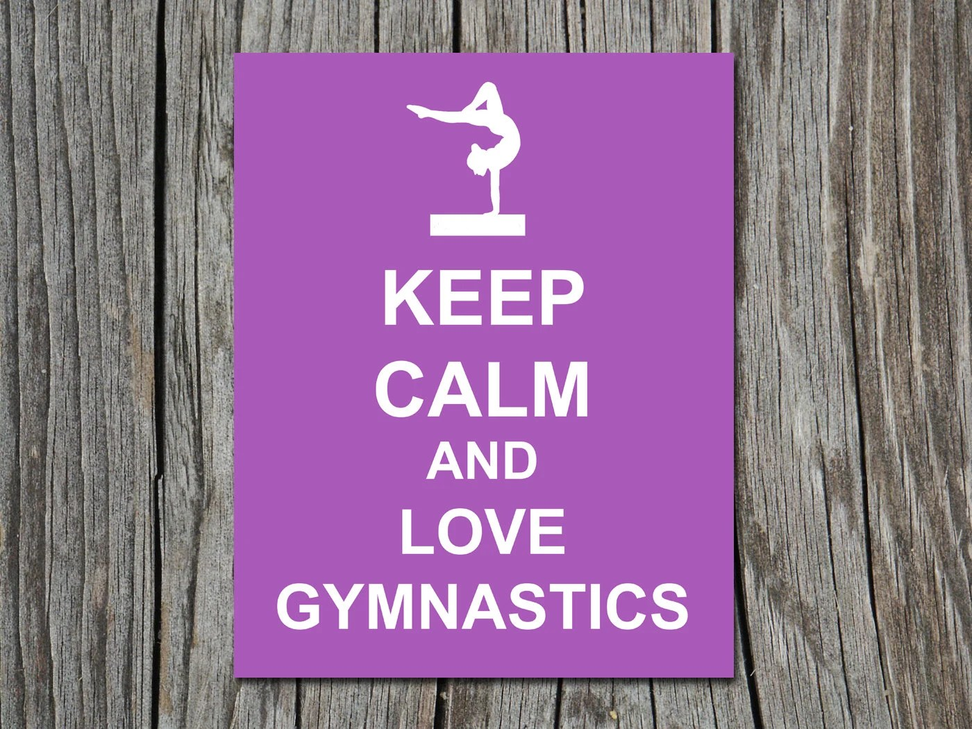 Keep Calm And Do Gymnastics Wallpaper