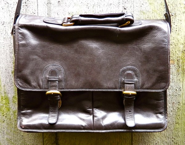 Vintage Wilsons Leather Briefcase Attache Laptop Executive