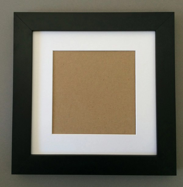 10x10 Square Black Frame With White Mat 6x6
