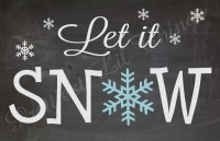 Shabby Chic Chalkboard Let It Snow Christmas by ...