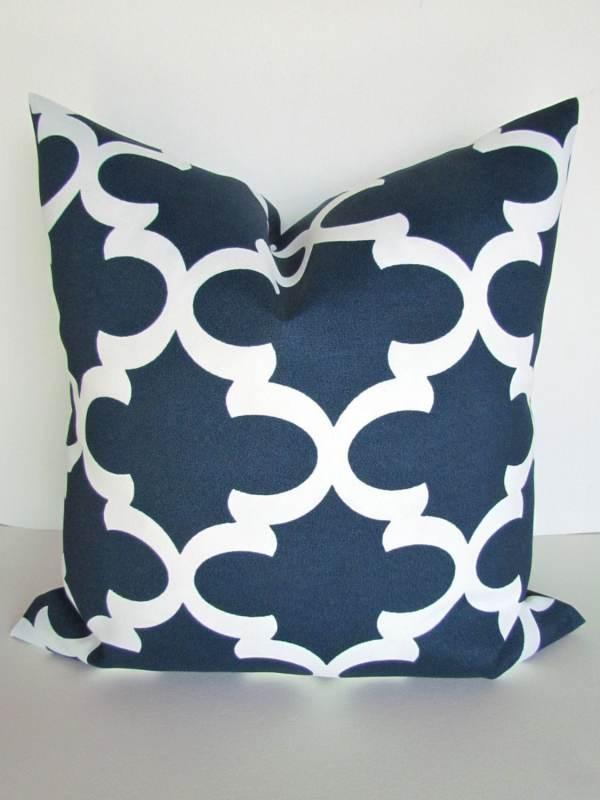 BLUE OUTDOOR PILLOWS Navy Blue Throw Pillow Covers Blue