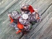 camo and orange boutique hair bow