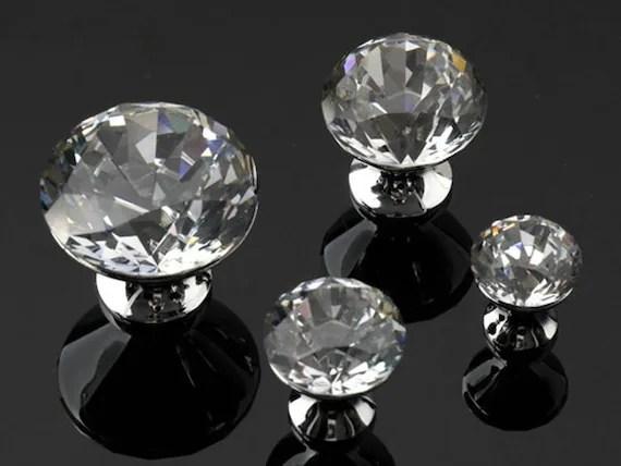Glass Knobs Crystal Dresser Knob Drawer Knobs Pulls Handles