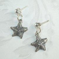 925 Sterling Silver Starfish Earrings