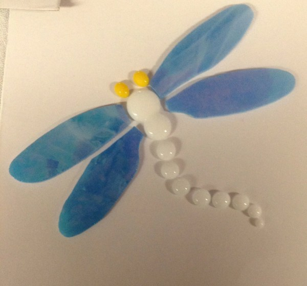 Pre-cut Glass Dragonfly Mosaic Pieces Tyglass