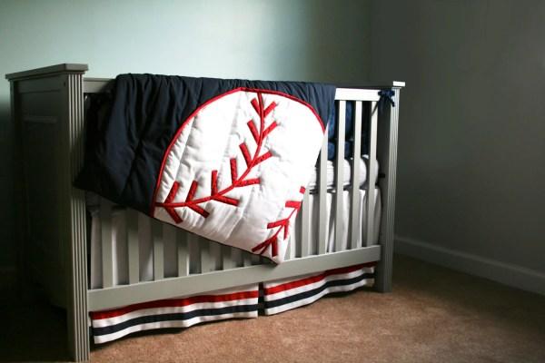 Baseball Theme Crib Bedding