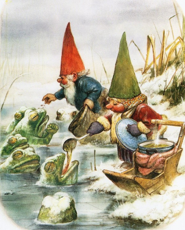 Vintage Art Print Rien Poortvliet Gnome Elf David And Lisa