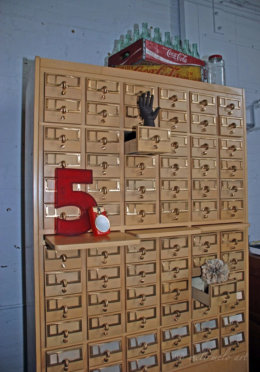 72 Drawer Library Index Card File Cabinet REDUCED SHIPPING