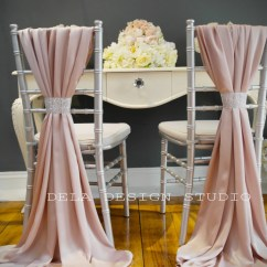 Chair Covers Wedding Buy Church Accessories Silky Satin Cover Sash Blush By Deladesignstudio
