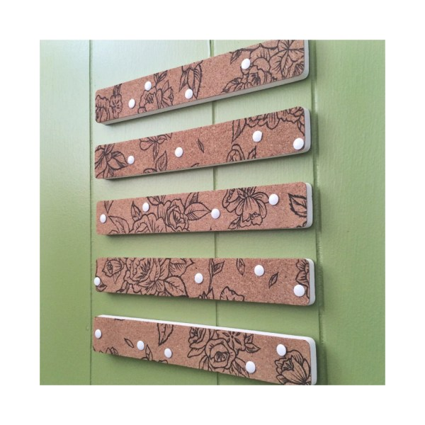 Decorative Bulletin Board Message Center Cork Strips