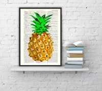 Pineapple Wall decor giclee print art Hipster pineapple by ...