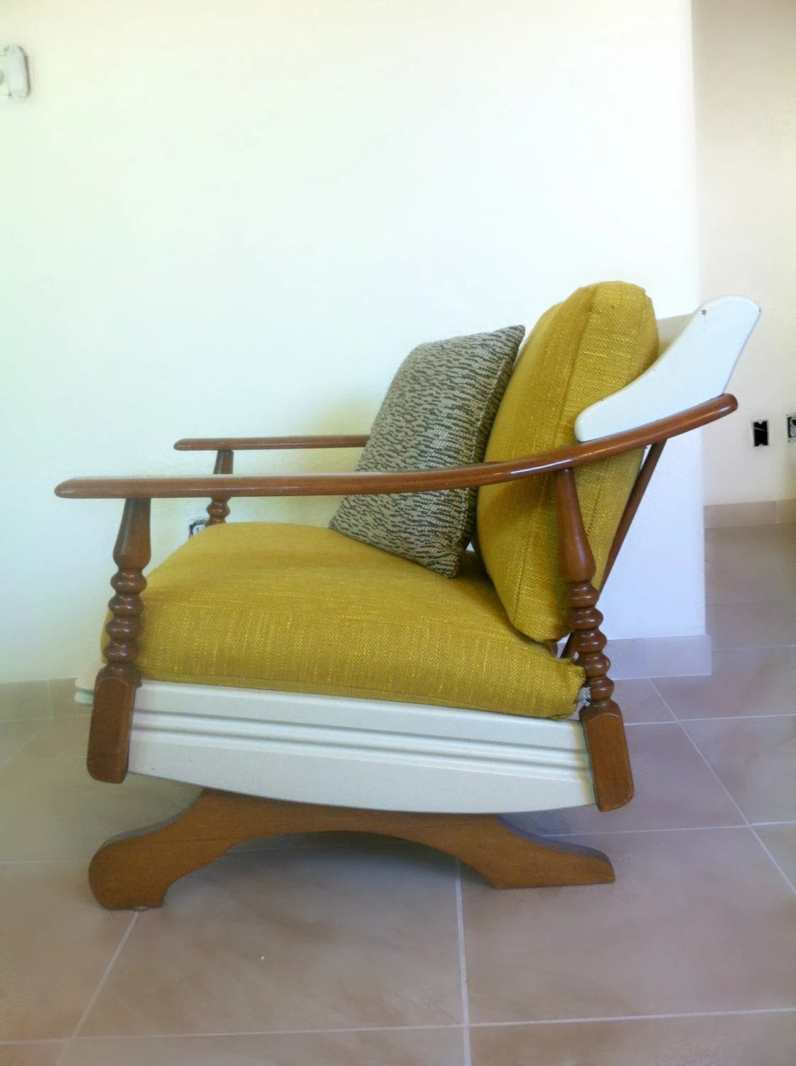 mid century modern rocking chair leather lounge and ottoman set vintage 1960 39s