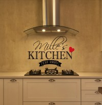 Personalized Kitchen Wall Decal Kitchen Decor Wall Decal