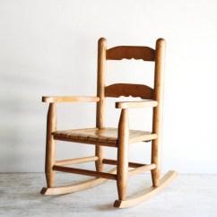 Childs Wooden Chair Zero Gravity Leather Child 39s Rocking Kids