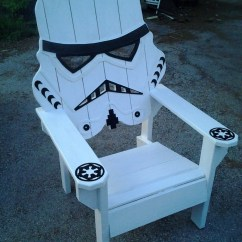 Wooden Skull Chair Screen Porch Lounge Chairs Star Wars Storm Trooper Chairadirondack Yard