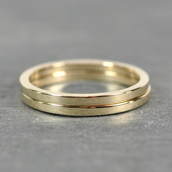 Solid Gold Stacking Rings 14k Yellow 1.5 Seababejewelry