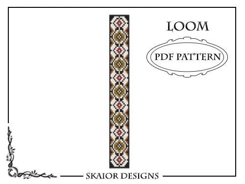 Loom Beading Pattern Loom Bracelet Tribal Geometric PDF Seed