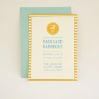Backyard Barbecue Party Invitation Cookout Casual Get Together