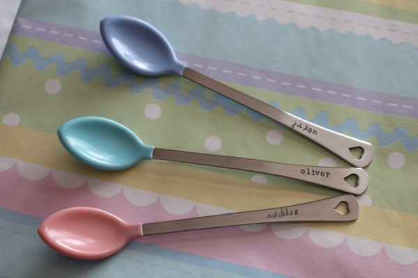 Baby Spoons Personalized Set Of 2 Hand Stamped Custom