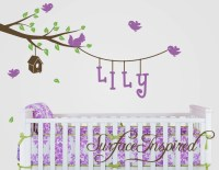 Items similar to Nursery Wall Decals - Tree and name wall ...