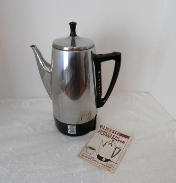 Vintage Presto Electric Coffee Percolator 12 Cup