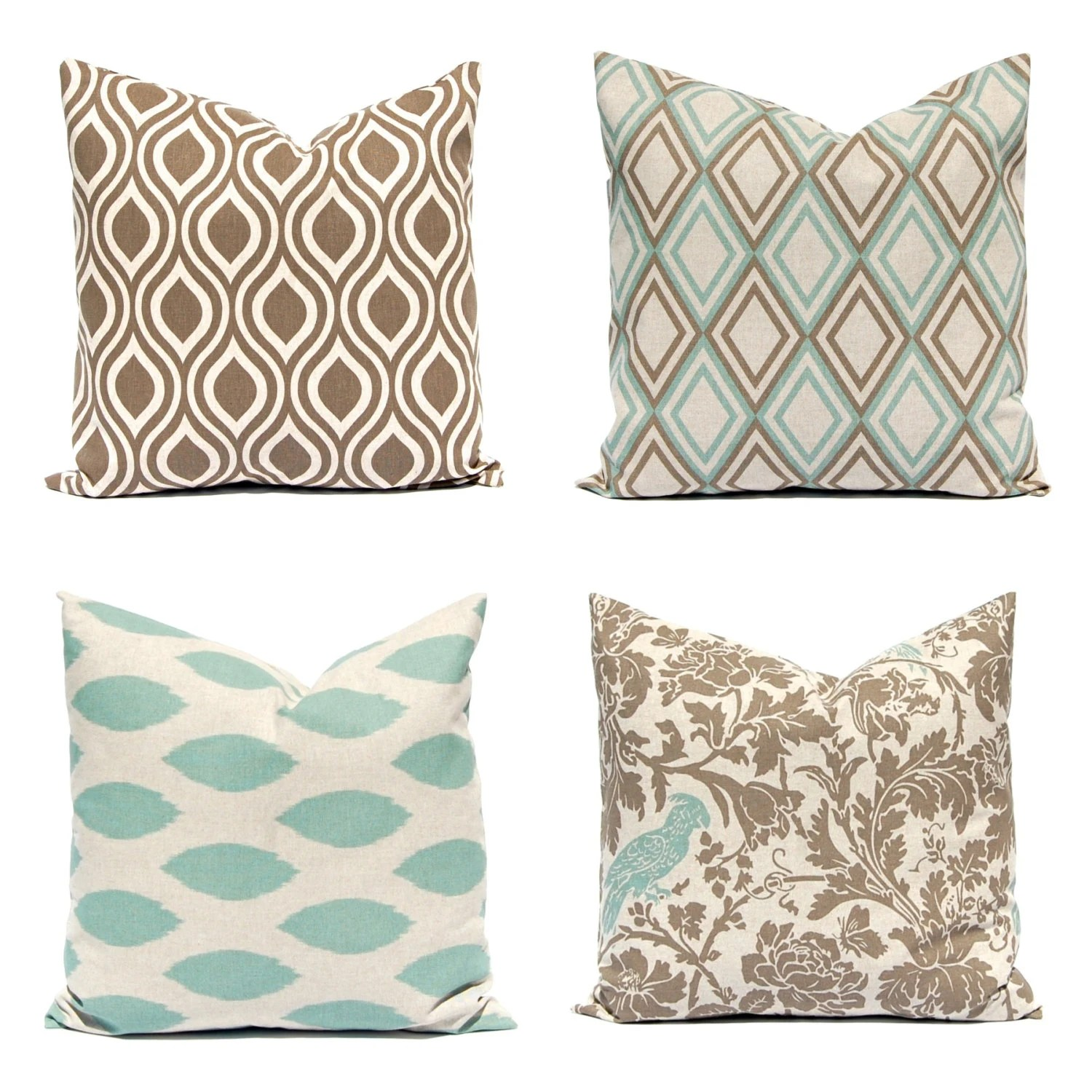 pillow decorative for sofa firm cushion couch covers pillows seafoam green