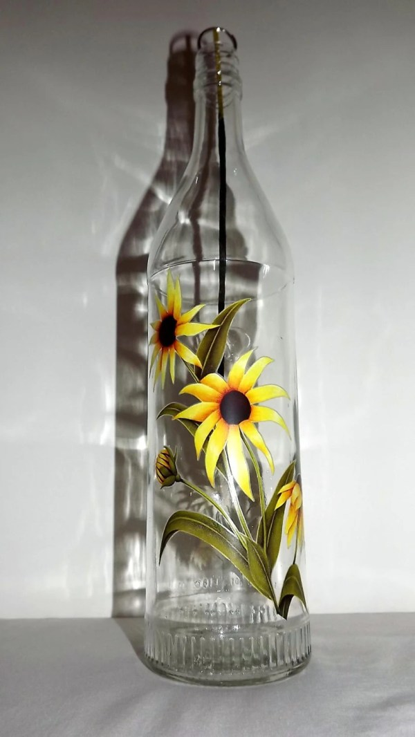 Eyed Susans Glass Bottle Incense Burner-great
